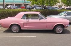My teen-age dream car...a Pink Mustang! Who am I kidding??!! That is still one of my dream cars!!!! ♥♥♥