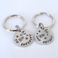 Best Friend Keychains- Couple Keychain Pair. $26.00, via Etsy.