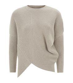 asymmetric ribbed sweater
