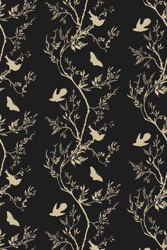 Timorous Beasties Wallcoverings  - Birdbranch Stripe wallpaper