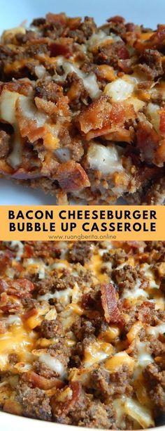 Bacon Cheeseburger Bubble Up Casserole #maindish #bacon #cheeseburger #bubbleup #casserole