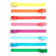 paper tape 8 pack - rainbow