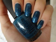 stephanieanguyen:  Teal Glitter Fade OPI's Ski Teal We Drop,...