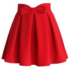 Chicwish ($39) ❤ liked on Polyvore featuring skirts, red, pleated skirt, red pleated skirt, knee length pleated skirt, red skirt and heart skirt