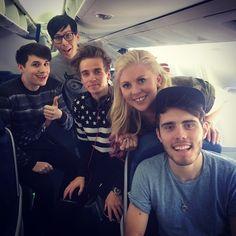 Alfie, Louise, Joe, Phil, and Dan