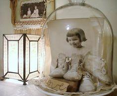 sweet way to display heirlooms