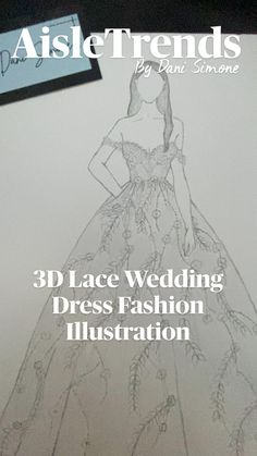 Wedding Dress Illustrations, Fashion Illustration Dresses, Fashion Design Sketchbook, Fashion Sketches, Wedding Dress Styles, Wedding Gowns, Dress Sketches, Bridal Style, Lace