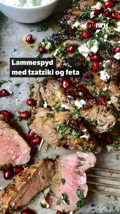 Tzatziki, Feta, Lamb, Nom Nom, Grilling, Food Porn, Drinks, Recipes, Alternative