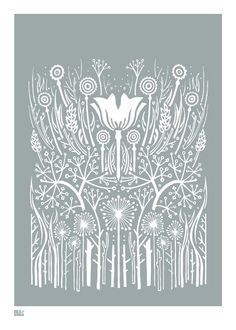 Warm Grey - decorative screen print