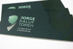 Cartão de Visita do cirurgião bucal e maxilofacial, Jorge Kaluf.
