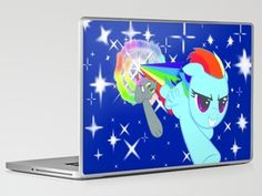 Rainbow Dash Vs Nyan Cat Laptop & iPad Skin by Wendy - $30.00