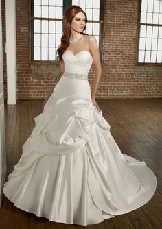 Matching Beaded Tie Sash Wedding Dresses(HM0163)