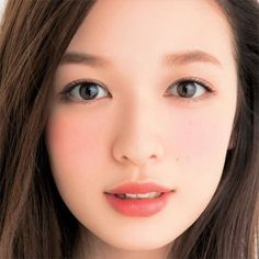 I tried a similar look yesterday with lesser makeup, clean eyes and a touch of blush. Husband commented i look younger! My Beauty, Beauty Women, Asian Beauty, Beauty Makeup, Eye Makeup, Hair Beauty, Japanese Makeup, Japanese Beauty, Asian Make Up