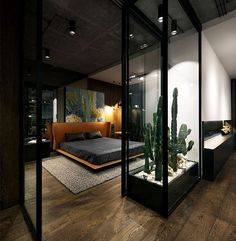 Loft by YoDezeen - Architecture and Home Decor - Bedroom - Bathroom - Kitchen And Living Room Interior Design Decorating Ideas - Small Apartment Bedrooms, Apartment Bedroom Decor, Small Apartments, Bedroom Loft, Apartment Interior, Apartment Ideas, Master Bedroom, Apartment Styles, Apartment Design