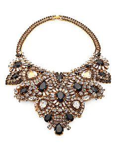 Aerin Erickson Beamon - Crystal Bib Necklace - Saks.com