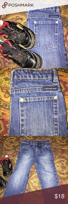 Little Boys Calvin Klein Jeans EUC These jeans are so adorable my grand wore them maybe one time. Soooo cute! They do have an adjustable band. Calvin Klein Bottoms Jeans