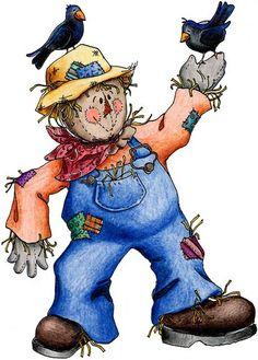 *SCARECROW...he's so cute...no pattern, just love the coloring and shading of him