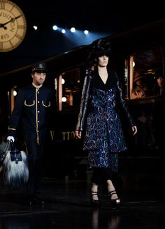 This still from the LV show is not to be missed, but the star is that bag!