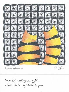 Catversations #12 Ink & colored pencil, 4″x4″