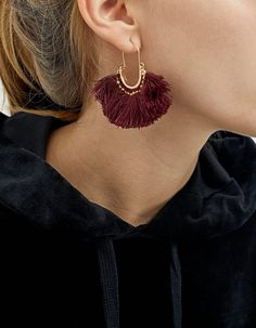 Set of 2 pairs of earrings with feathers and tassels - Earth Waves | Stradivarius Hungary