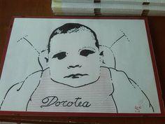 mia cugina dorotea in versione pop art pennarello su carta