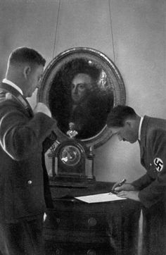 Detail of Adolf Hitler and Viktor Lutze by Anonymous