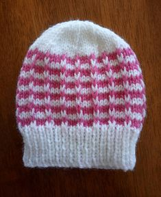 Ravelry: Duet Baby Hat pattern by marianna mel Baby Hat Knitting Patterns Free, Baby Hat Patterns, Baby Hats Knitting, Knitted Baby Blankets, Crochet Baby Hats, Doll Patterns, Knitted Hats, Knit Patterns, Knitting Projects