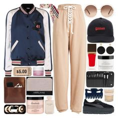 """Somebody curses me, their jealously will make them lonely."" by pure-and-valuable ❤ liked on Polyvore featuring Coach, Puma, Chloé, Off-White, Dolce&Gabbana, Tom Ford, Arme De L'Amour, BHCosmetics, Palila and NARS Cosmetics"