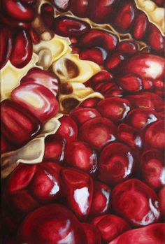 pomegranate by on DeviantArt - ART: Fruit: Apple - Cherry - Lemon - Pomegranate- Strawberry - Watermelon - Natural Forms Gcse, Natural Form Art, Pomegranate Art, Pomegranate Drawing, Gcse Art Sketchbook, Sketchbook Layout, Art Doodle, Fruit Painting, Food Art Painting