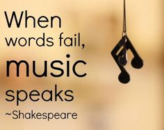 :) I agree, I do this all the time when I want to really reach people who do not respond to words, just MUSIC!