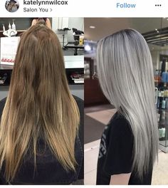 silver hair highlights (notitle) Best Picture For Hairstyle for school messy For Your Tast Silver Hair Highlights, Silver Blonde Hair, Blonde Hair Looks, Ash Grey Hair, Silver Platinum Hair, Ashy Blonde Hair, Long Silver Hair, Ash Hair, Silver Ombre