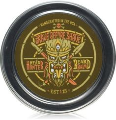 GRAVE BEFORE SHAVE Head Hunter Beard Balm (Tropical summer aroma)
