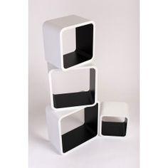 Étagère design Square noir et blanc ATYLIA