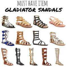 Must Have Item for Spring: Gladiator Sandals  I am looking for some with a little heel. I like the tall ones but I may go with ankle wrap only.