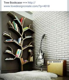 Tree bookcase. http://www.lovedesigncreate.com/?p=4018
