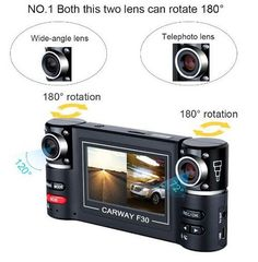 Dual Lens Dash Cam with Night Vision $79.99 Description: 2.7'' HD Dual Lens Car Camera Vehicle DVR Dash Cam Video Recorder Night Vision Y Item specifics: Condition: New: A brand-new, unused, unopened, undamaged item in its original packaging  Video Resolution: 1280 x 480  Wide Angle: 120 Degree  Storage Card Slot: TF card  TV Out Supported: Yes(PAL/NTSC)  Ports: Mini USB, TV Out, TF Slot  Size: 132 mm x 62 mm x 27 mm  Color: Black  To view additional information go to website