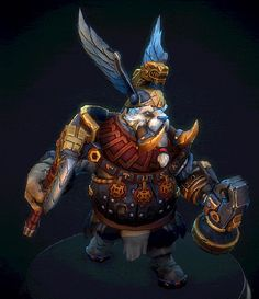 Tusk set for Dota2 warhammer event, Andrey Chuloshnikov on ArtStation at https://www.artstation.com/artwork/X4x30