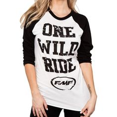 FMF Racing Ride It Raglan Womens Top Tee Motocross Dirt Bike T-Shirts