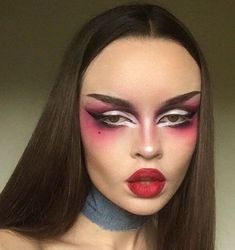 Punk Makeup, Edgy Makeup, Makeup Eye Looks, Creative Makeup Looks, Drag Makeup, Makeup Goals, Pretty Makeup, Makeup Inspo, Makeup Art