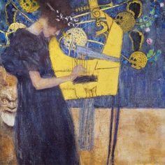 Gustav Klimt - Die Musik, 1895 Poster Kunstdruck (40x40cm) #60533