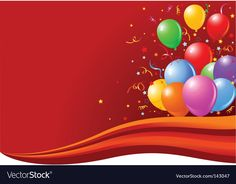 Balloons on the wave vector image on VectorStock Bday Background, Birthday Background Images, Balloon Background, Best Background Images, Waves Vector, Colourful Balloons, Islamic Images, Background For Photography, Flower Art