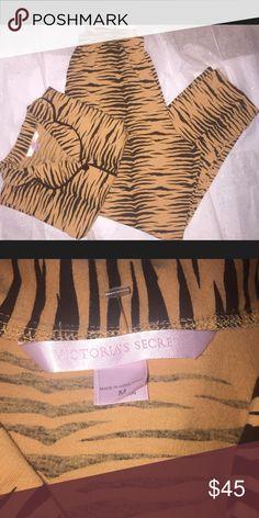 Victoria's Secret pajama set Victoria's Secret pajama set size medium leopard print very soft and comfy Victoria's Secret Intimates & Sleepwear Pajamas
