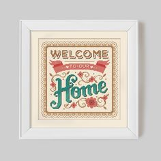Welcome to our Home - Cross Stitch Pattern (Digital Format - PDF)