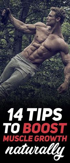 "Check out The 14 Tips to Boost Muscle Growth Naturally! If your goal is to improve your muscle growth and gain extra strength while you're at it then you really need to consider adding some of these 14 tips next time you go to workout at the gym. The important keyword here is ""naturally"" this means that these tips do not include the intake of any substances or any supplements that can potentially damage your health!Photo Credit: Bodybuilding.com #fitness #gym #workout #exercise"