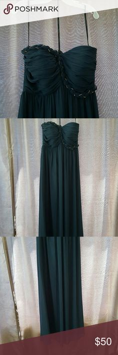 Calvin Klein dress - size 14 Calvin Klein dress - size 14, fits like a 12, forest green Calvin Klein Dresses Strapless