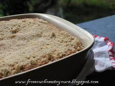 Receitas - From our home to yours - Português: Coffee cake, um bolo com farofa