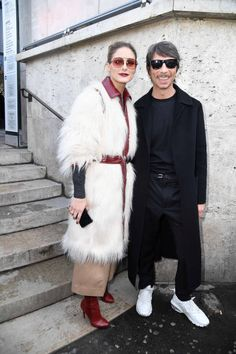 Olivia Palermo and Pierpaolo Piccioli attend the Giambattista Valli show as part of the Paris Fashion Week Womenswear Fall/Winter 2018/2019 on March...