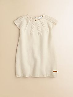 Burberry Toddler's Yoked Cable-Knit Dress. My granddaughter would look so cute in this! Perfect for Christmas.