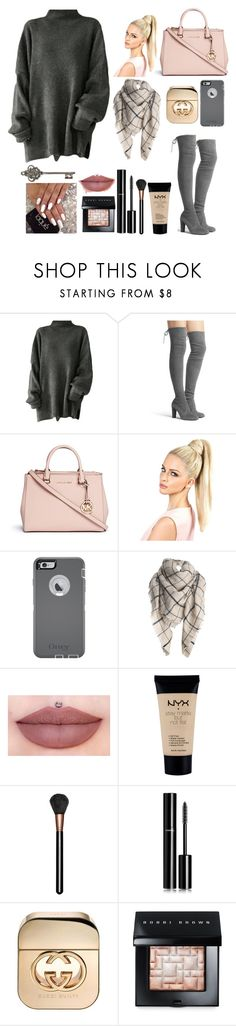 """""""《Comfy Cozy》"""" by lululadybug11 ❤ liked on Polyvore featuring Stuart Weitzman, Michael Kors, OtterBox, NYX, MAC Cosmetics, Chanel, Gucci, Bobbi Brown Cosmetics, women's clothing and women's fashion"""