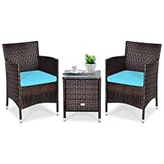 Wicker Patio Chairs Archives - Page 2 of 3 - patiofurnishing.com Rattan Outdoor Furniture, Wicker Chairs, Garden Furniture Sets, Patio Furniture Sets, Patio Chairs, Outdoor Chairs, Turquoise Cushions, Unique Home Decor, Land Scape